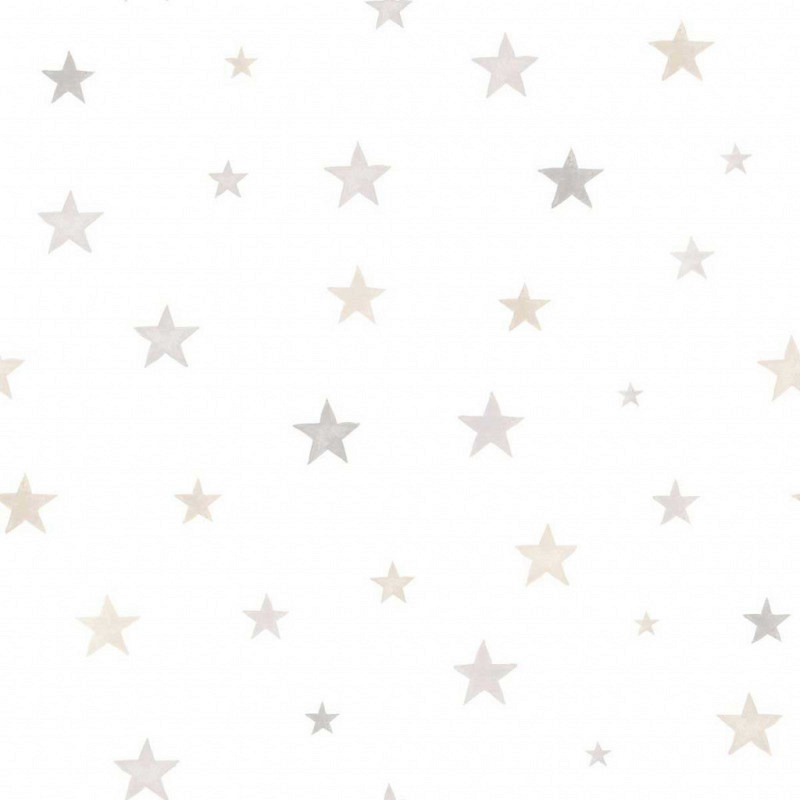 Ökotapete Sterne grau