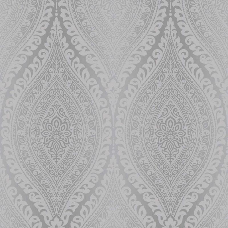 Tapete Kismet Damask Glitter silber