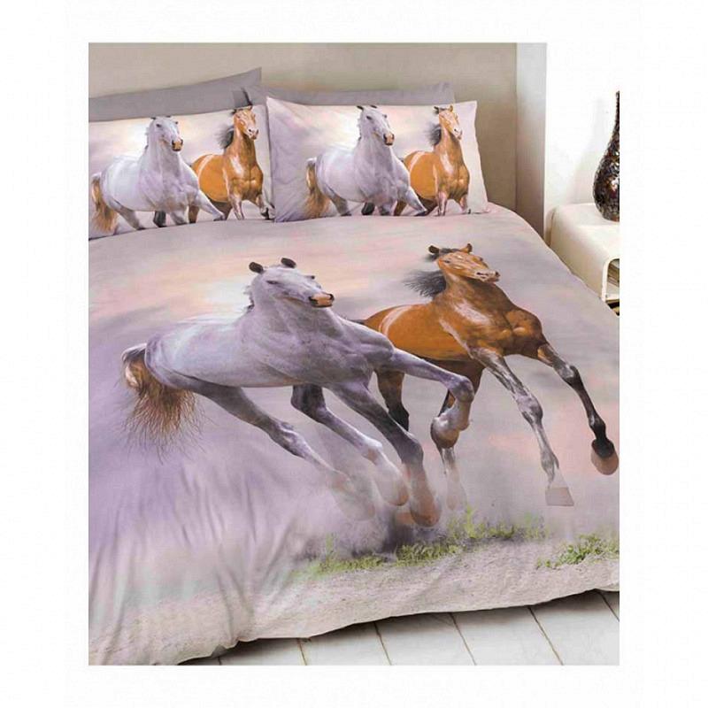Bettwäsche galoppierende Pferde