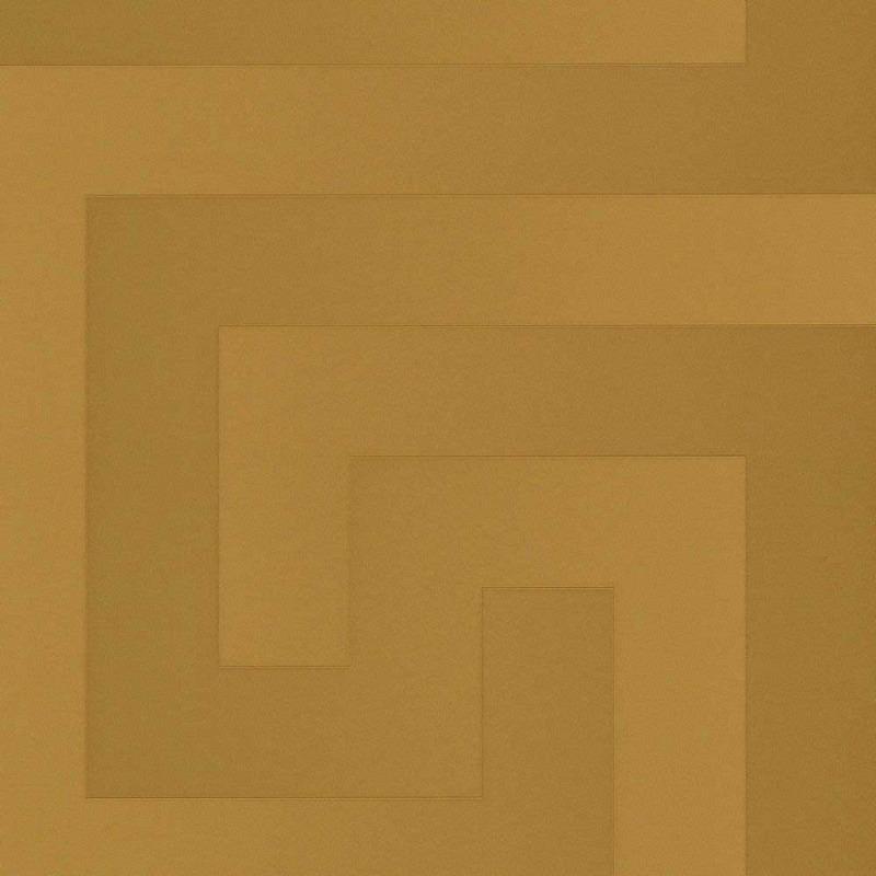 Vliestapete griechischer Schlüssel Versace gold
