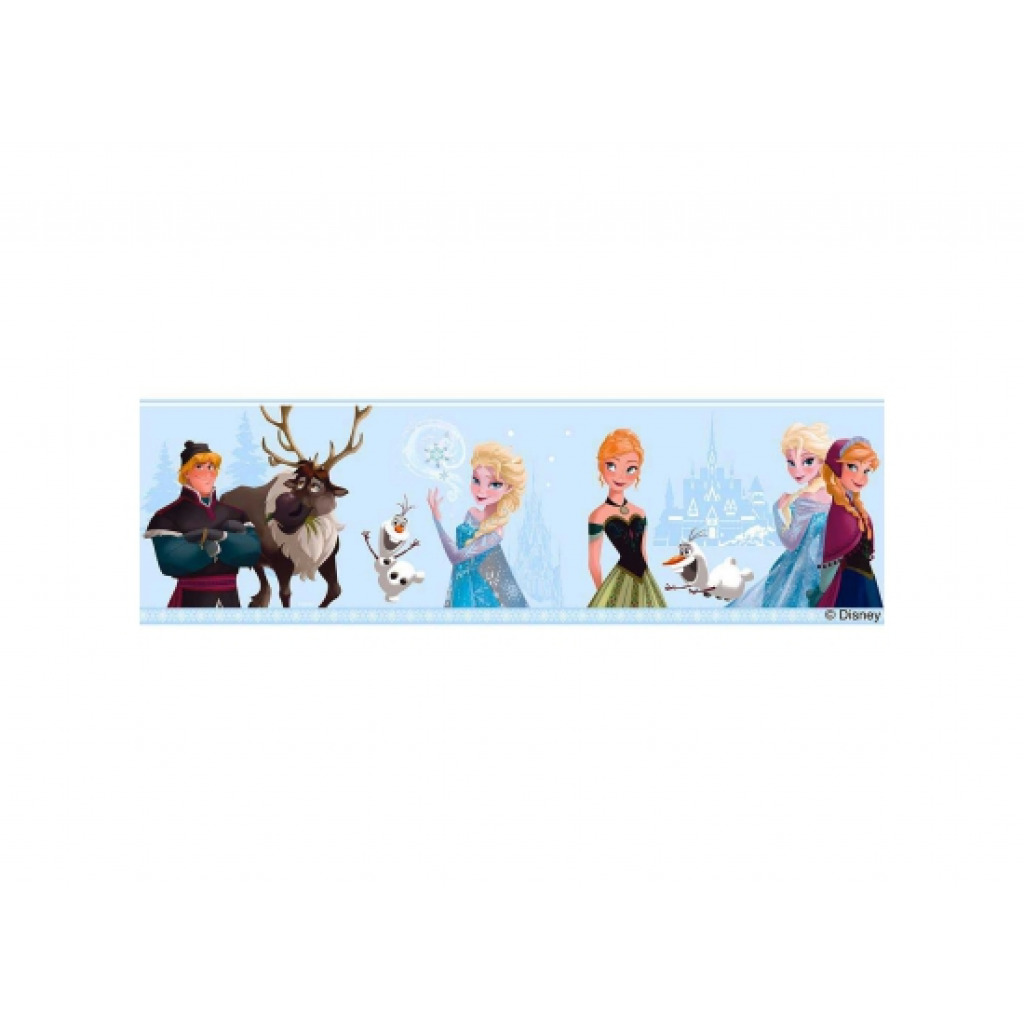 Bordüre Disney Frozen Winter hellblau