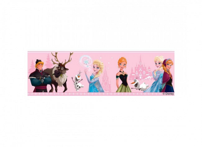 Bordüre Disney Frozen Winter hellrosa