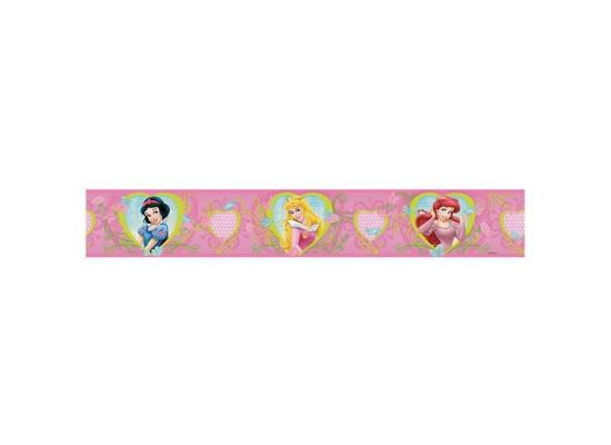 Kinderzimmer Bordüre Disney Princess Herz Blüten