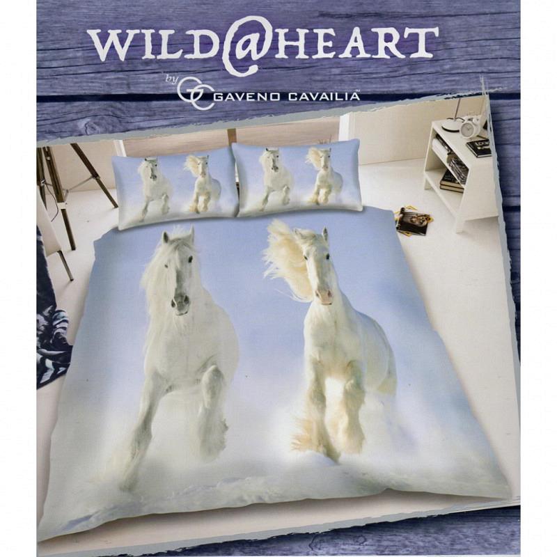 Bettwäsche weiße Pferde 3D