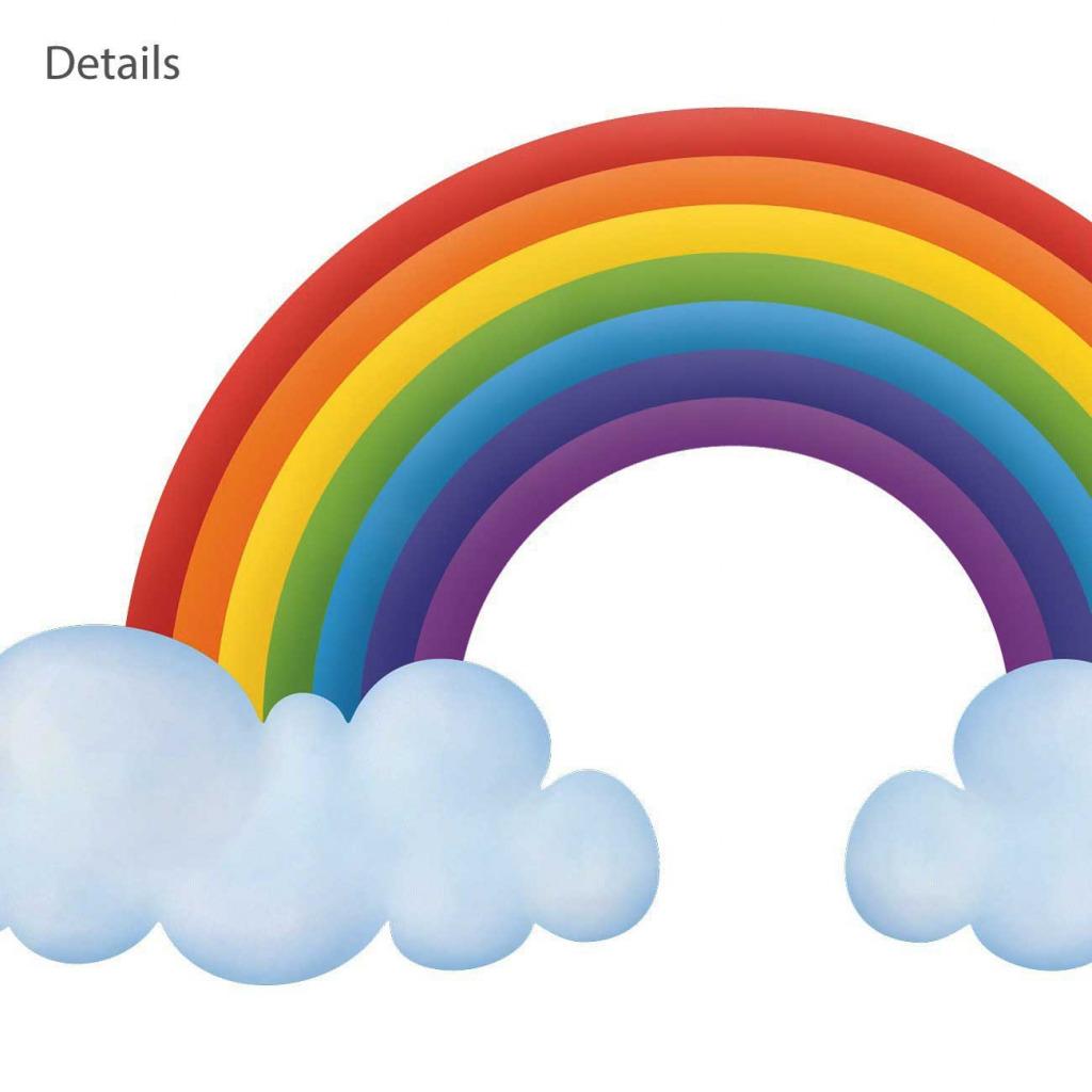 Wandsticker Regenbogen Babyzimmer XXL Details