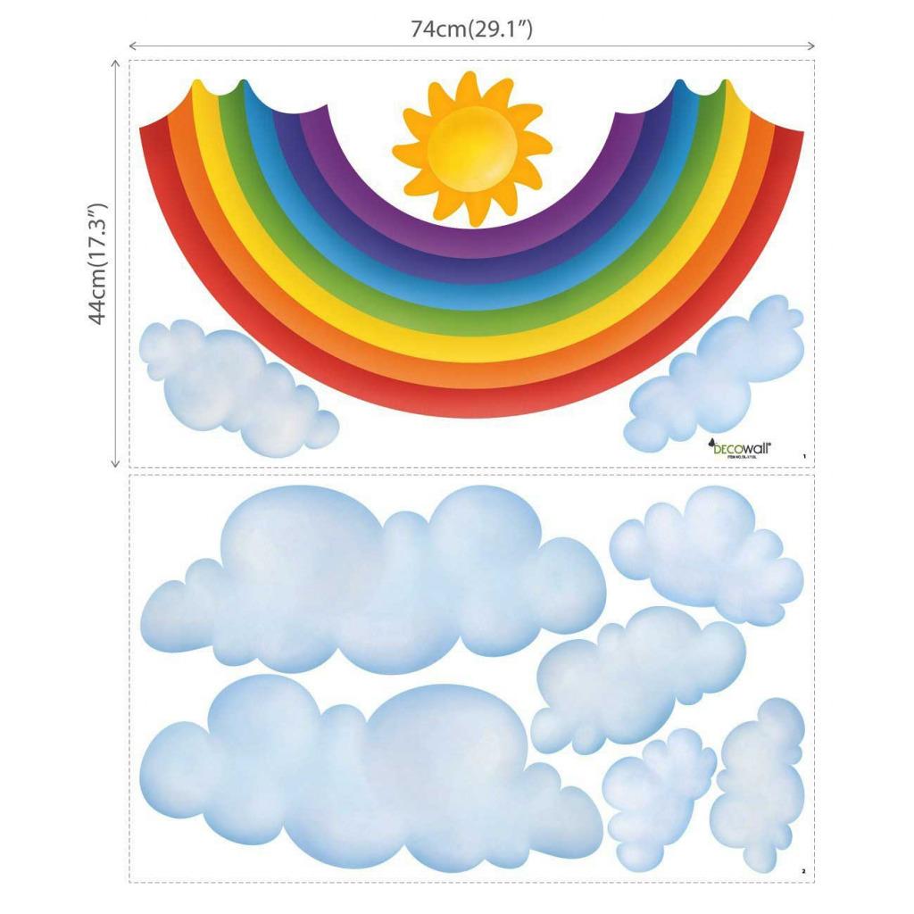 Wandsticker Regenbogen Babyzimmer XXL Maße