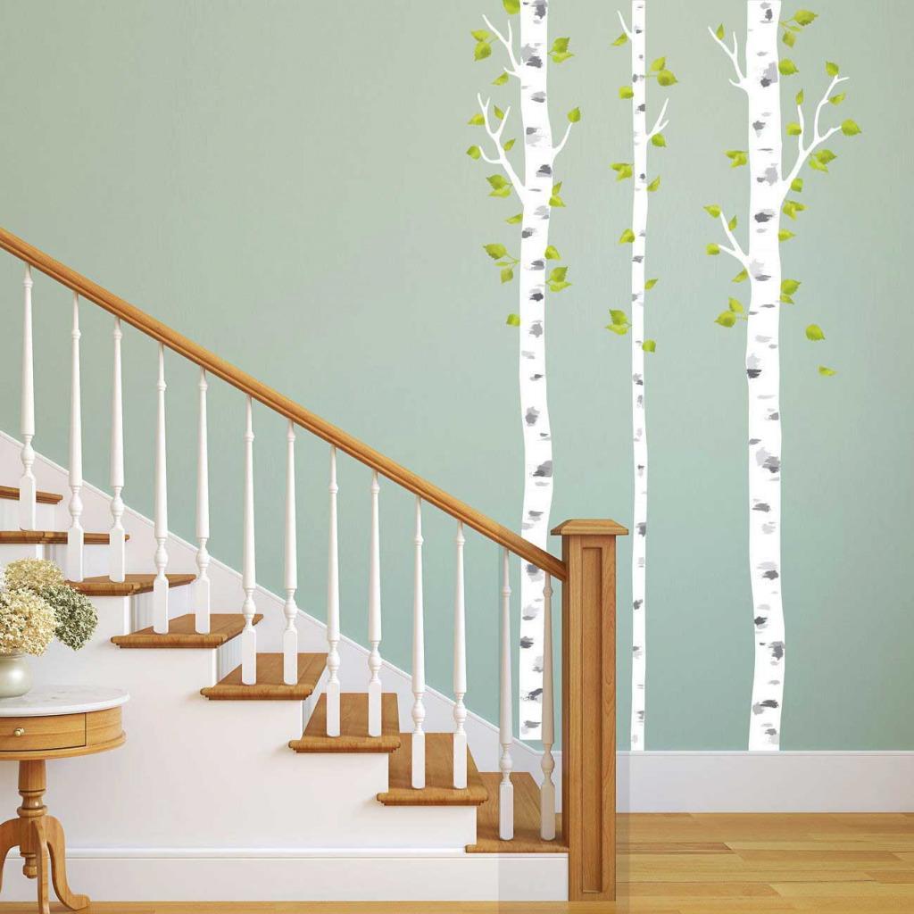 Wandsticker weiße Birken Flur
