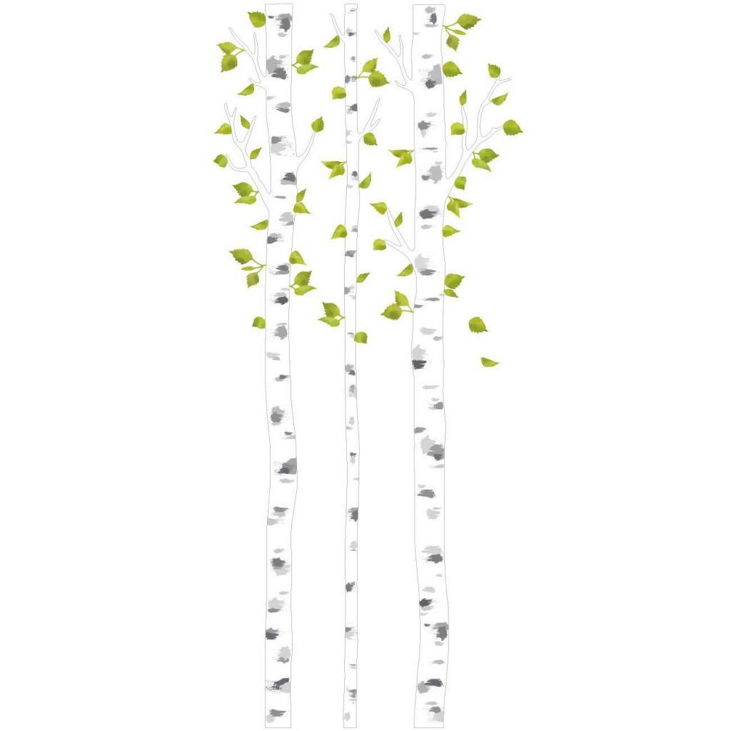 Wandsticker weiße Birken