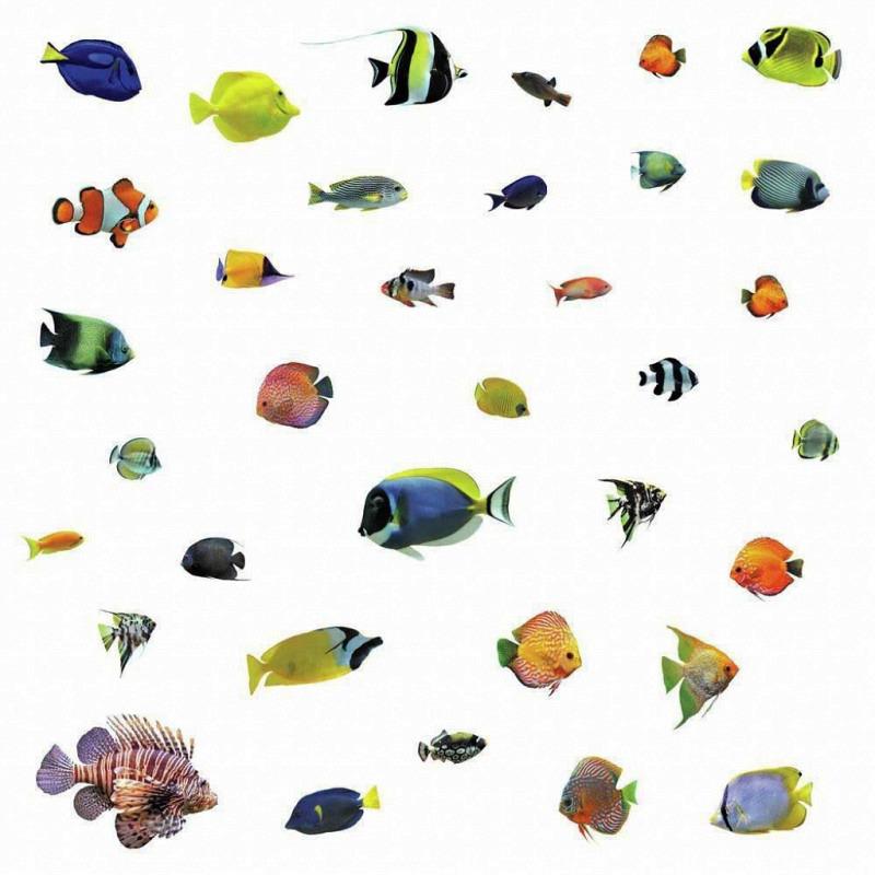 RoomMates Wandsticker tropische Fische