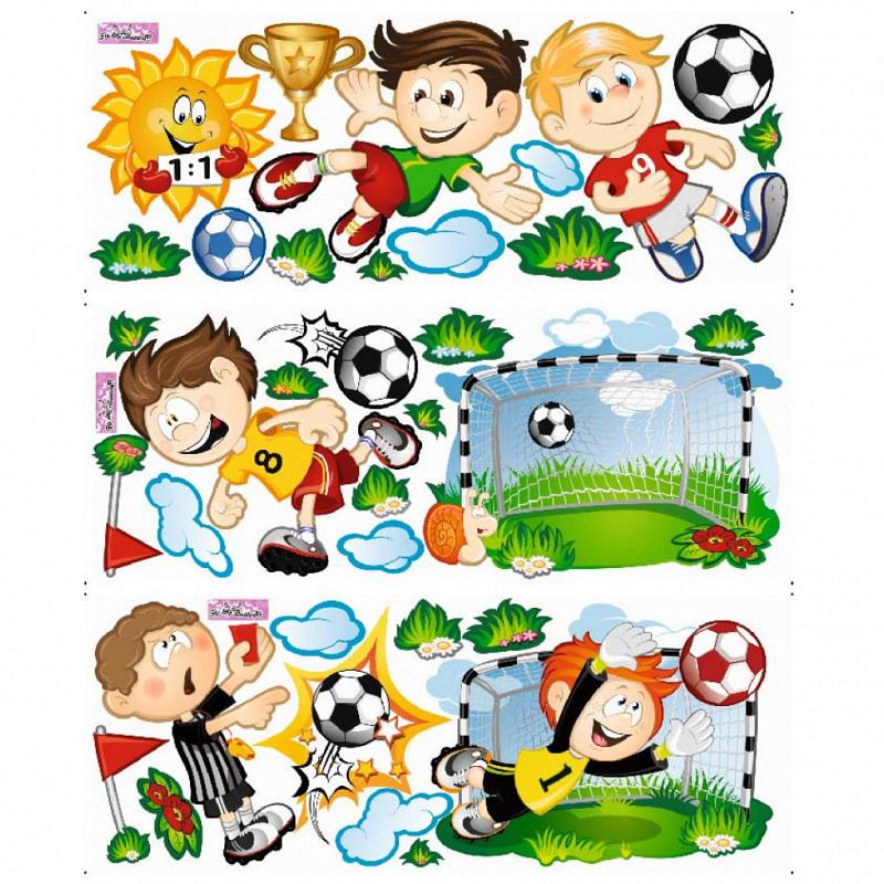 Wandsticker Fußball Tor Spieler