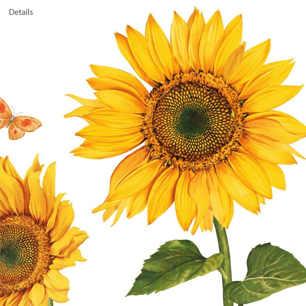 Wandsticker Sonnenblumen Wasserfarben Details