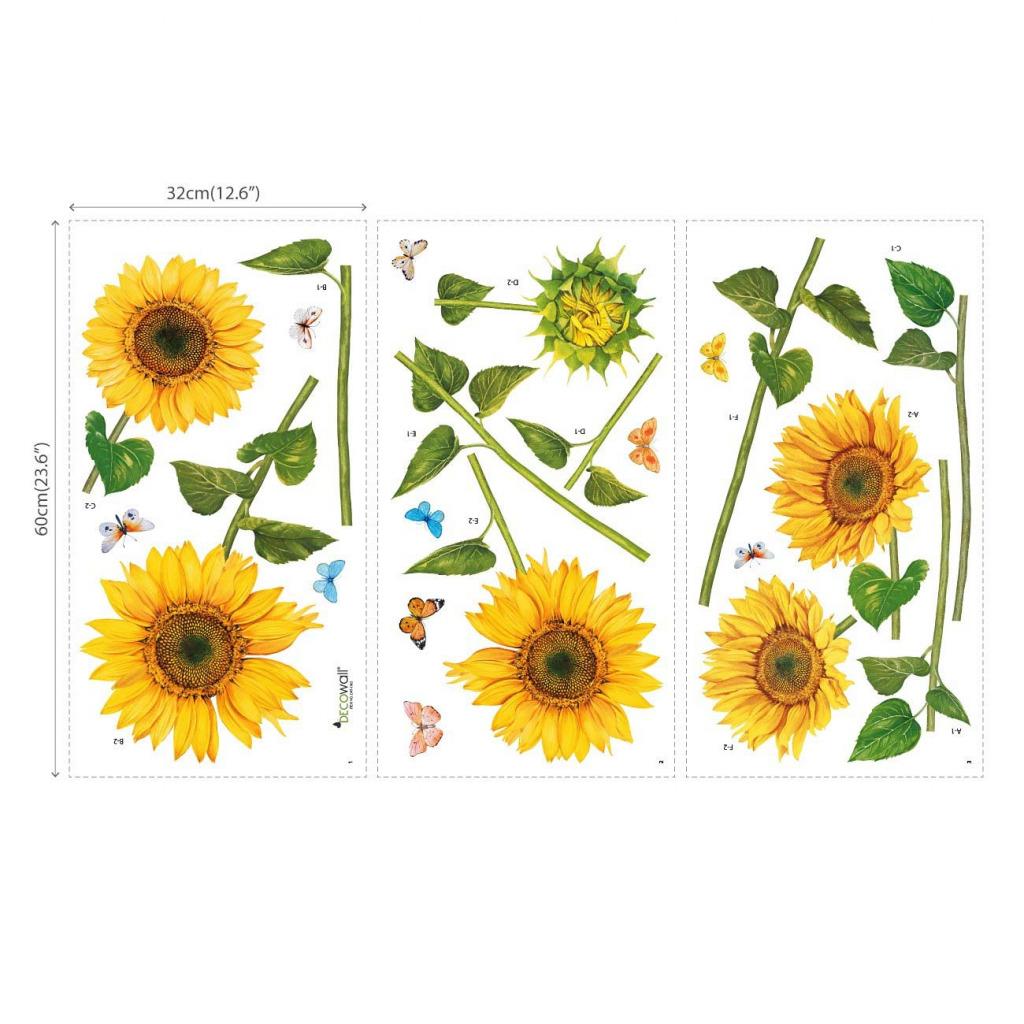 Wandsticker Sonnenblumen Wasserfarben Blatt