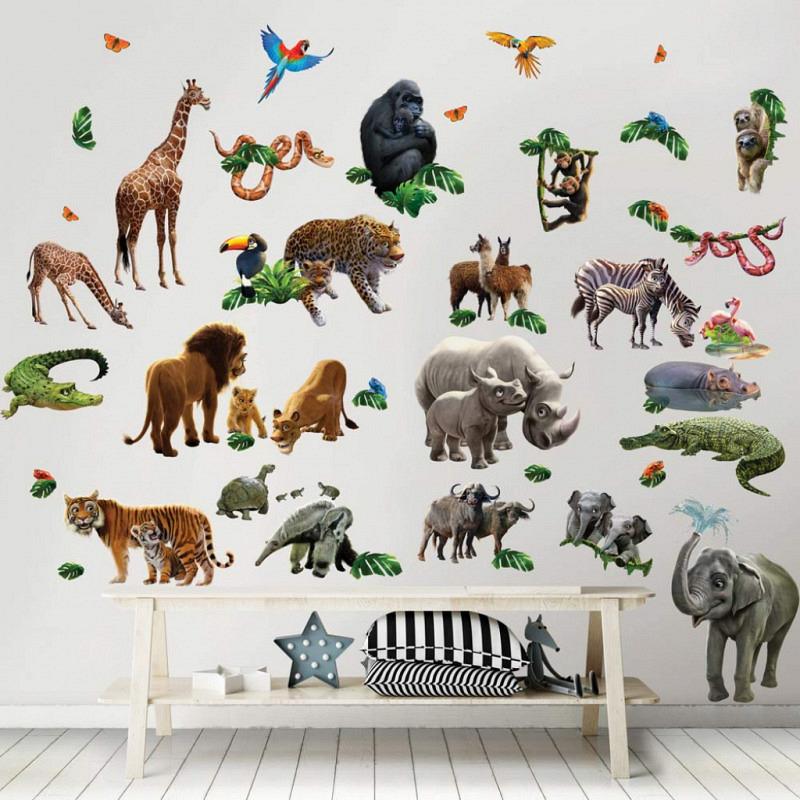 Wandsticker Dschungeltiere Abenteuer Safari