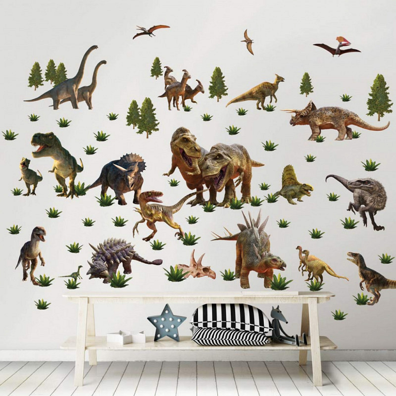 Wandsticker Dinosaurier Land
