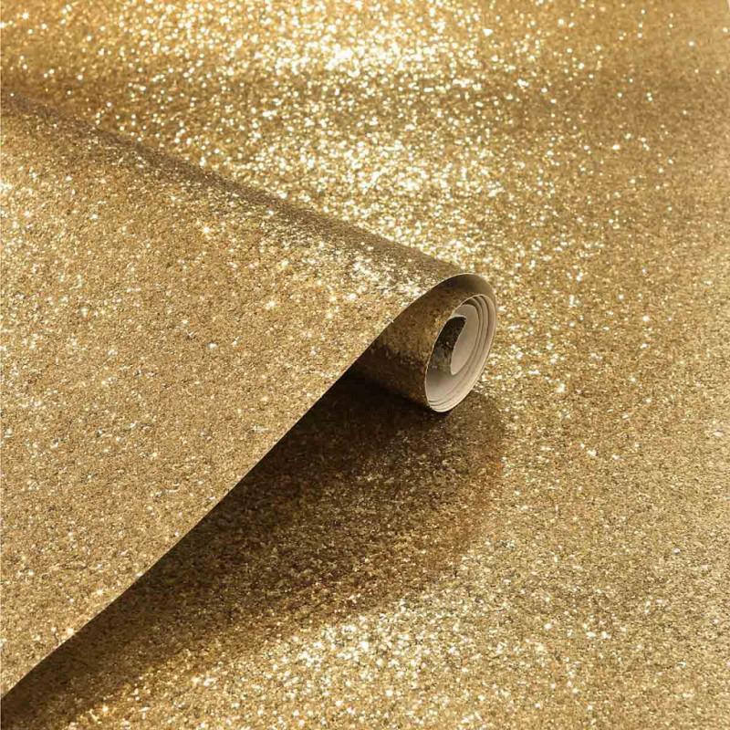 Vlies Tapete Glitter gold