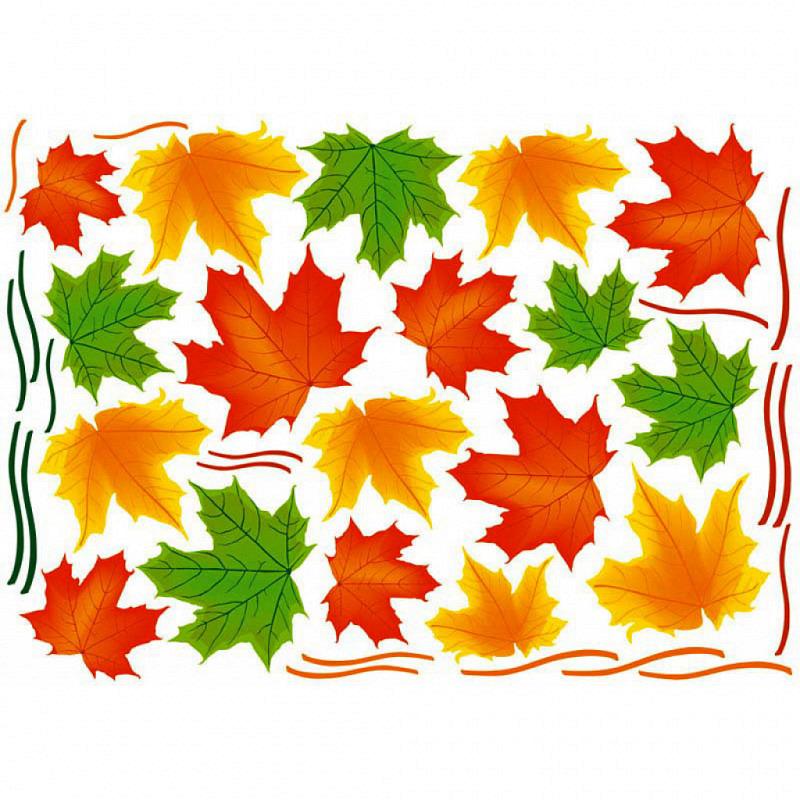Wandsticker Herbstlaub