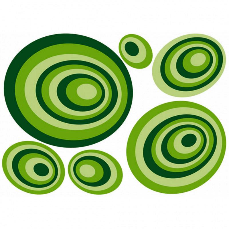 Wandsticker Grüne Kreise