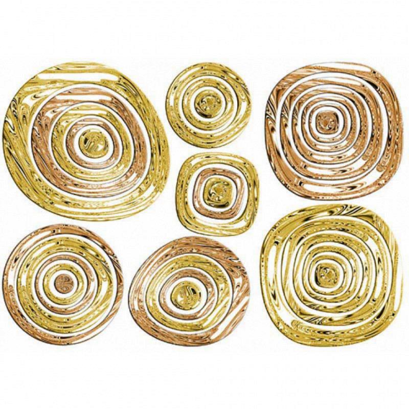 Wandsticker goldene Ringe