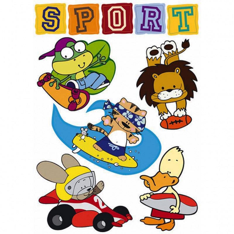 Wandsticker Sport Tiere