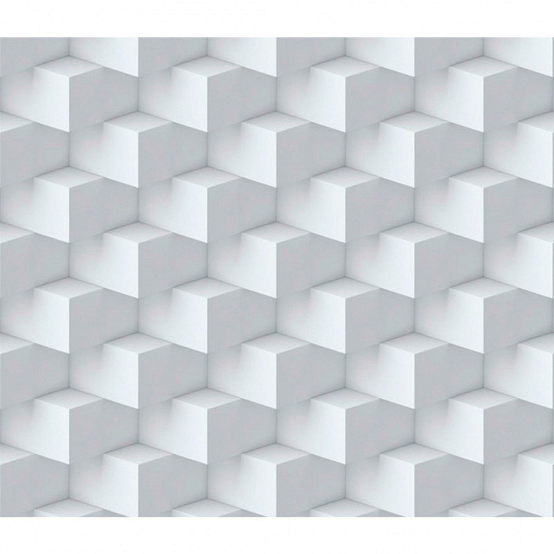 Vliestapete 3D-Optik Quader weiß