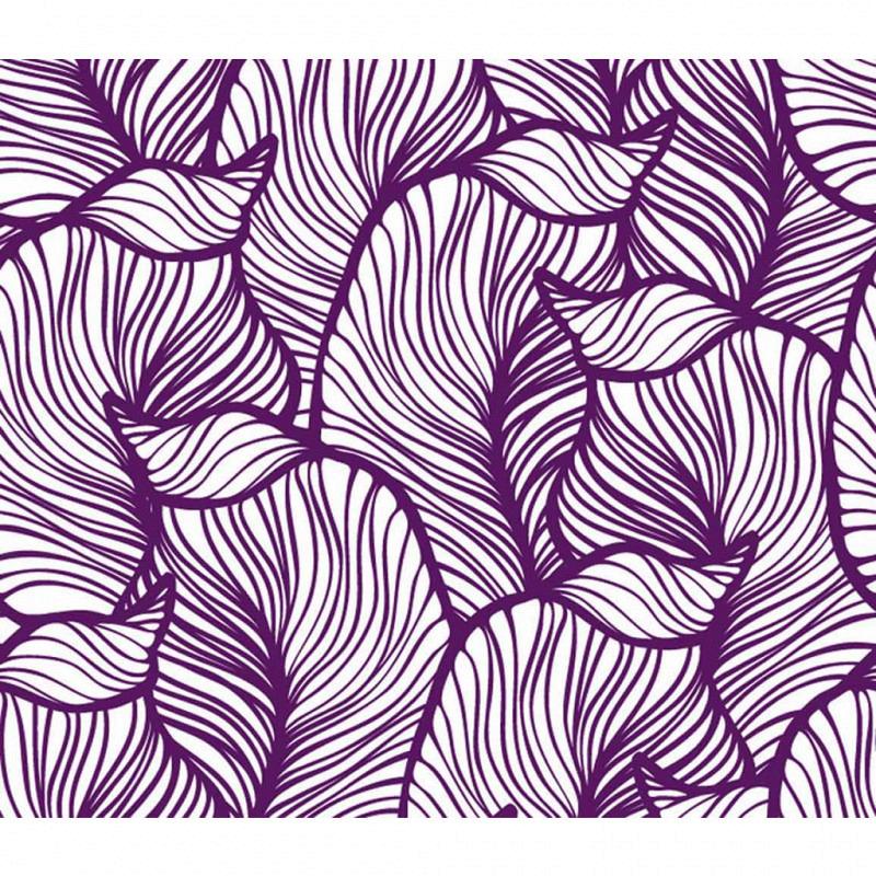 Vliestapete 3D-Optik Blatt lila