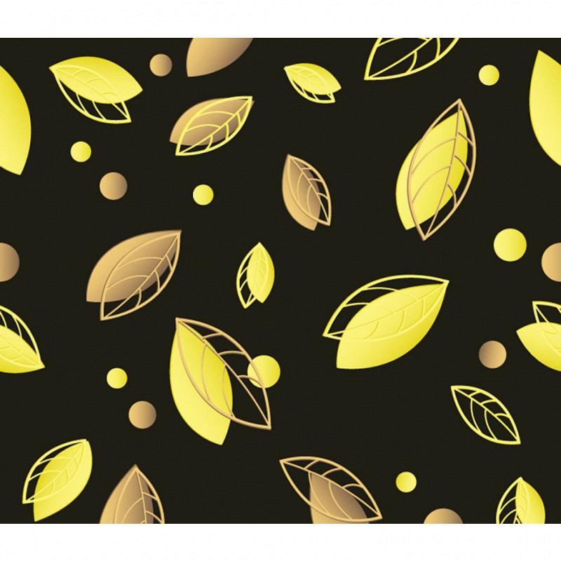 Vliestapete 3D-Optik Laubblätter gelb