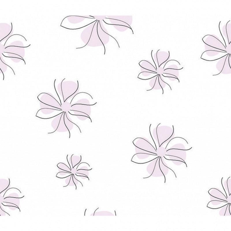 Vliestapete 3D-Optik Blümchen lila