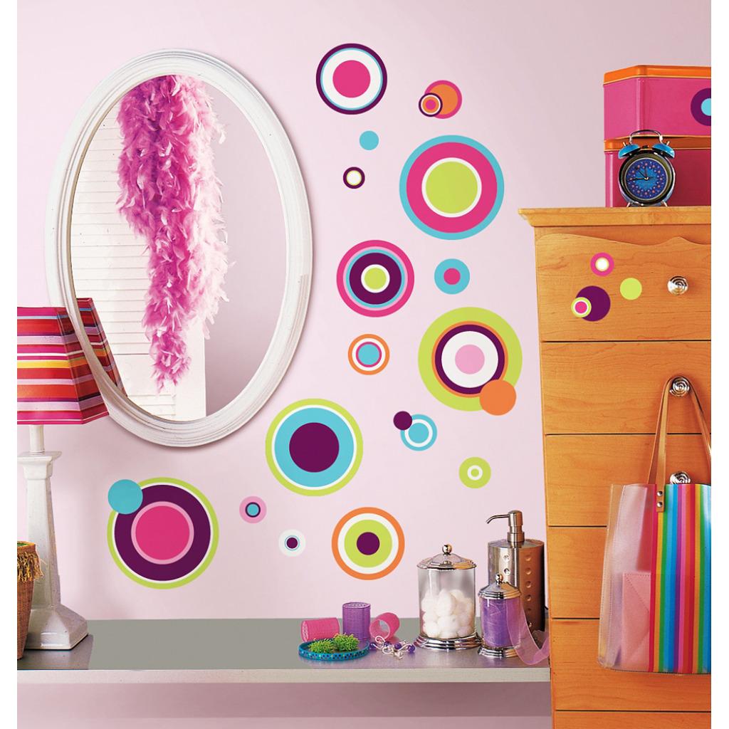 Roommates wandsticker wandbild verr ckte bunte punkte www 4 - Wandsticker jugendzimmer ...
