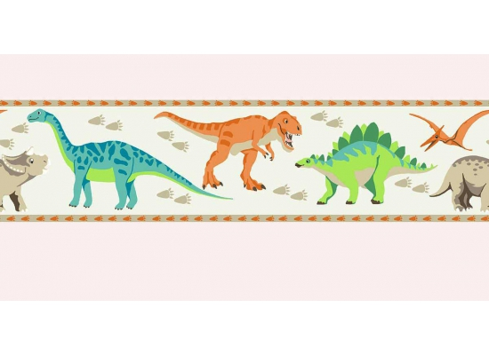 Kinderzimmer bord re tapeten borte dinosaurier dino for Tapeten borte