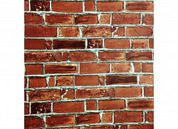 Tapete selbstklebend rote Backsteinmauer