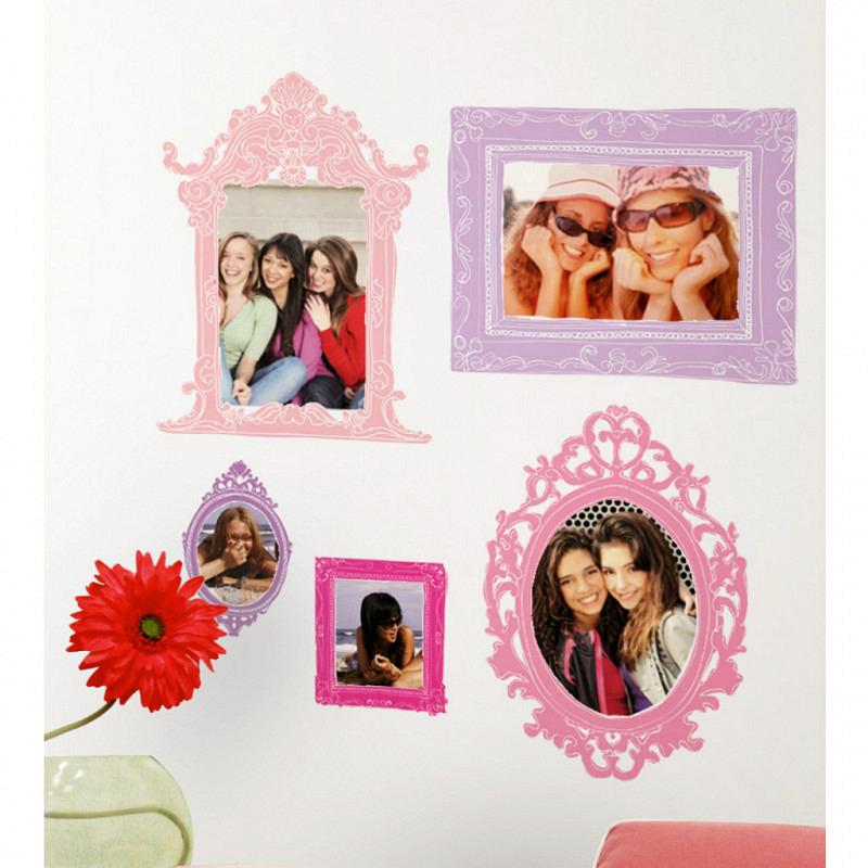 RoomMates Wandsticker Pink Purple Fotorahmen