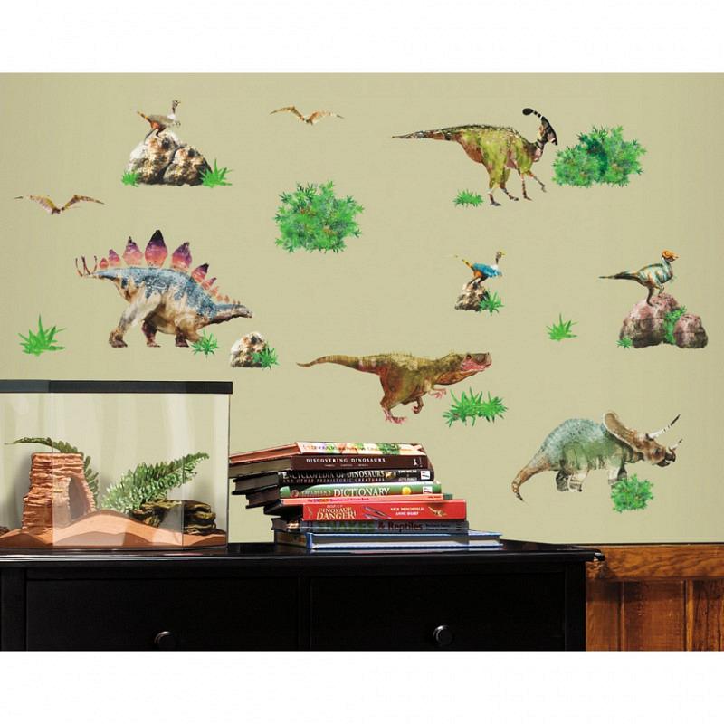 RoomMates Wandsticker Wandtattoo Dinosaurier Set