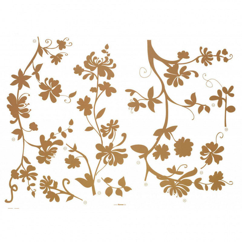 Wandtattoo Blütenranken