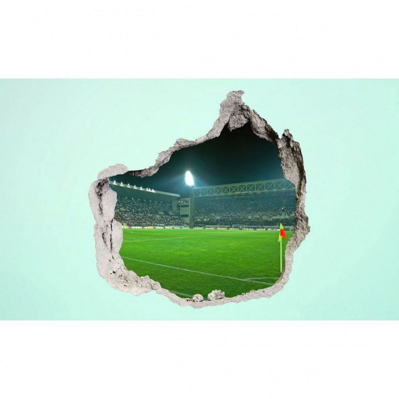 Wandsticker 3D-Optik Fußballstadion