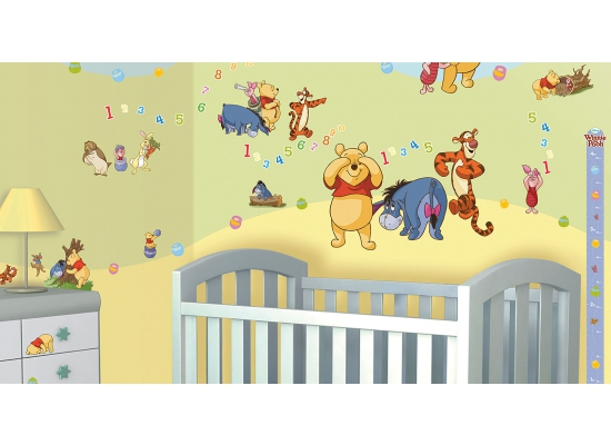 wandtattoo disney winnie the pooh babyzimmer walltastic. Black Bedroom Furniture Sets. Home Design Ideas