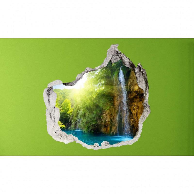 Wandsticker 3D-Optik blaue Lagune