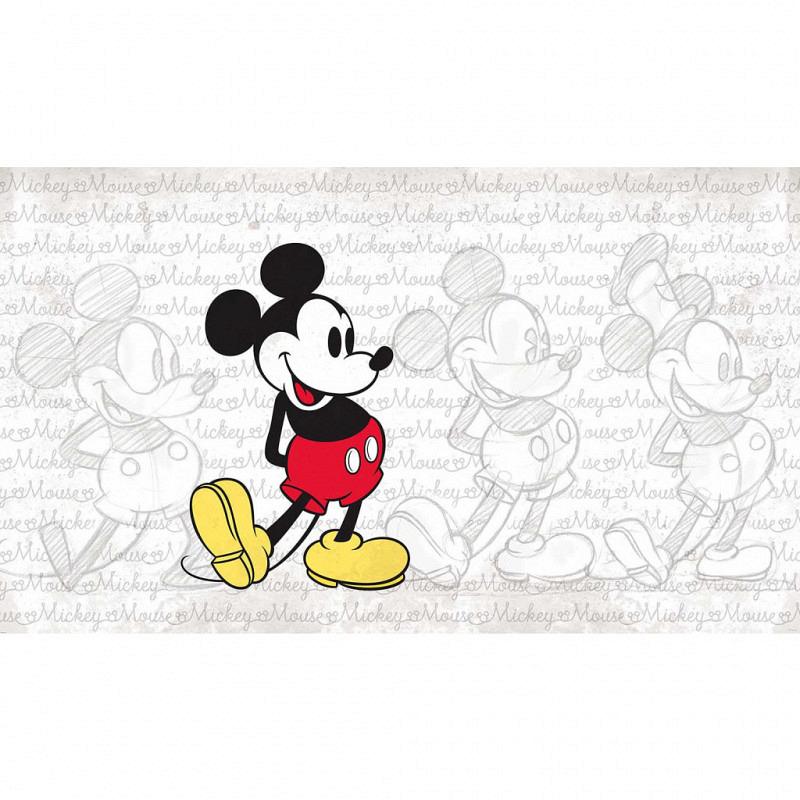 RoomMates Fototapete Mickey Mouse Skizzen Wandbild