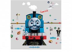 Wandsticker Lokomotive Thomas mit Nachtlicht