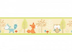Kinderzimmer Bordüre Waldtiere