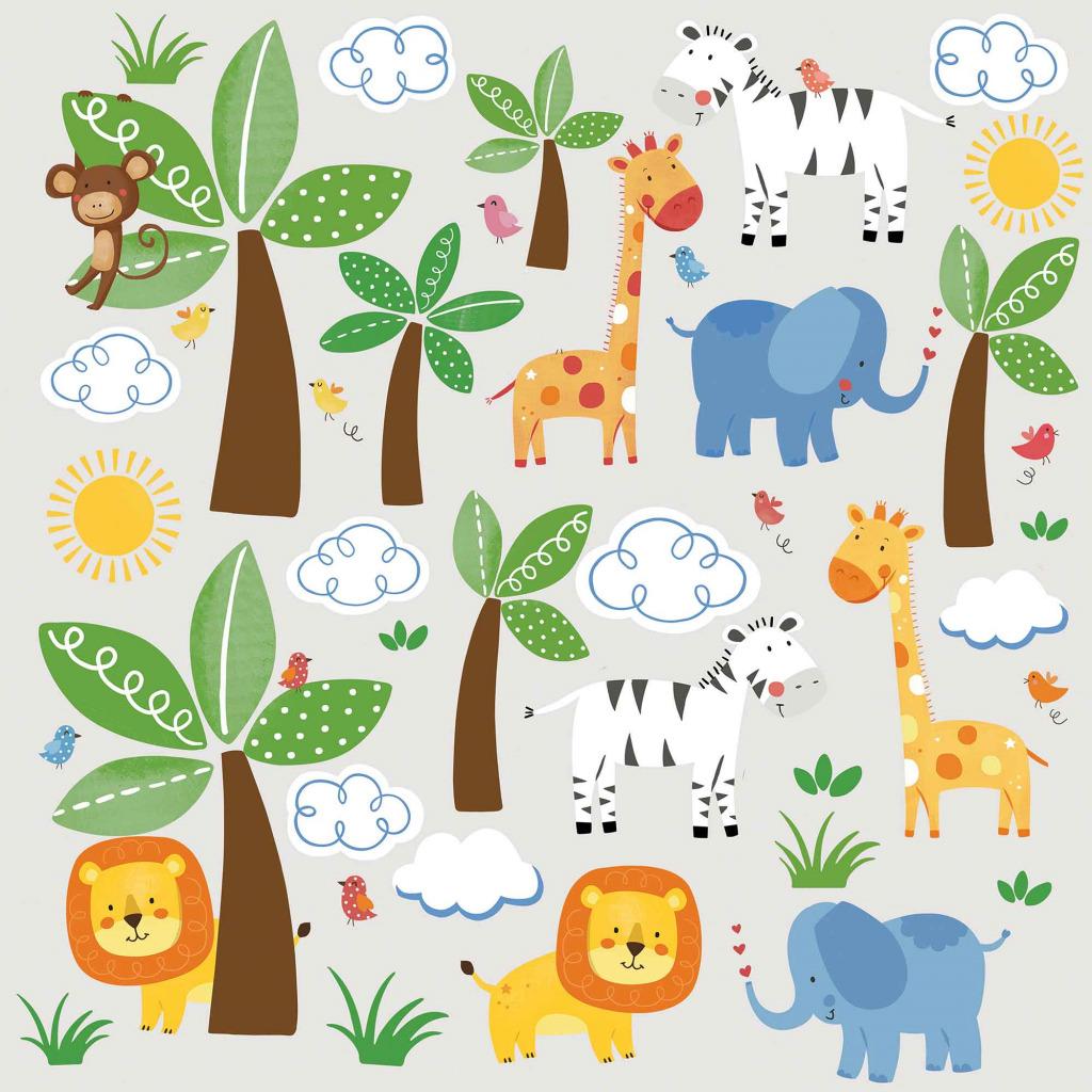 roommates wandsticker dschungel tiere l we giraffe www 4. Black Bedroom Furniture Sets. Home Design Ideas