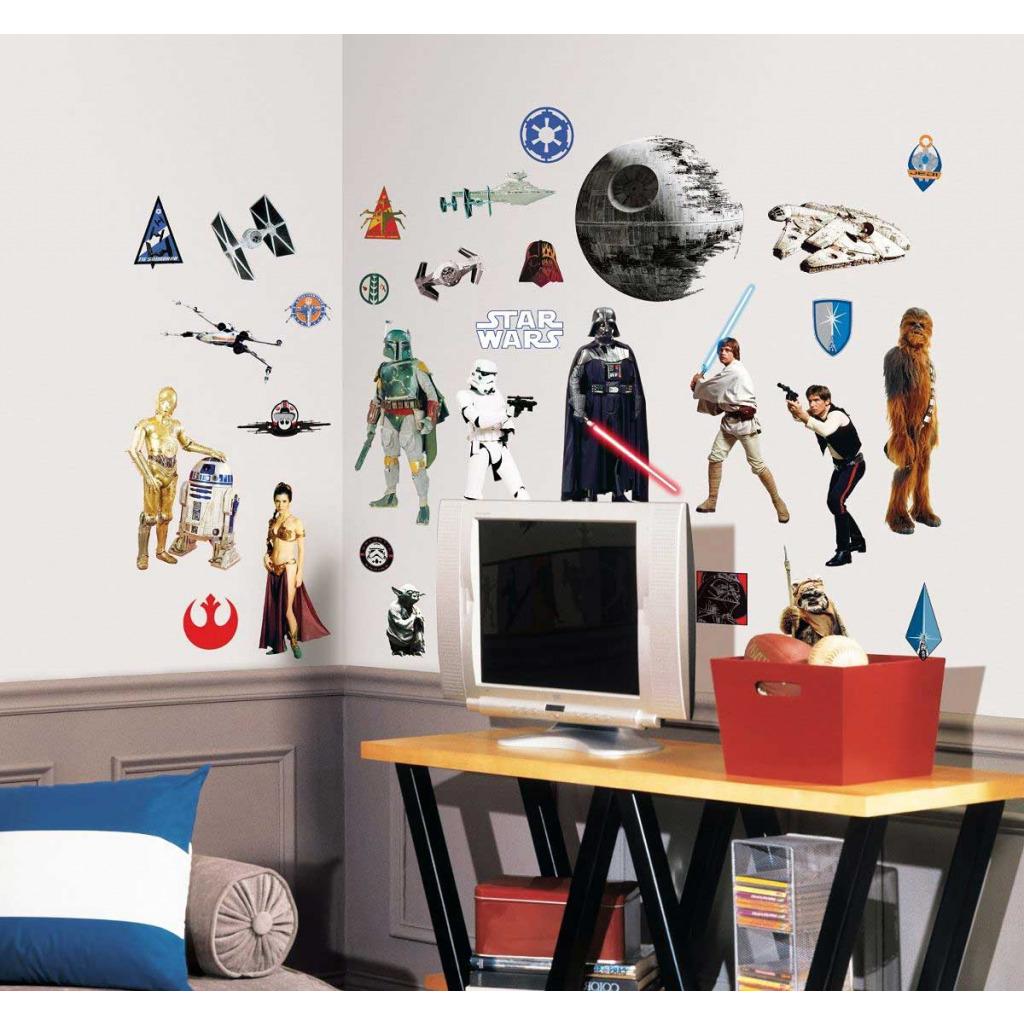 roommates wandtattoo star wars episode 4 6 star wars. Black Bedroom Furniture Sets. Home Design Ideas