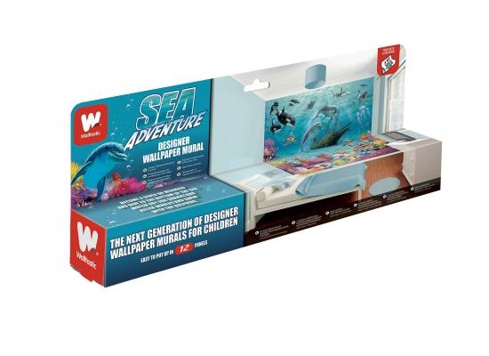 fototapete delfine fische unterwasserwelt walltastic fototapete. Black Bedroom Furniture Sets. Home Design Ideas