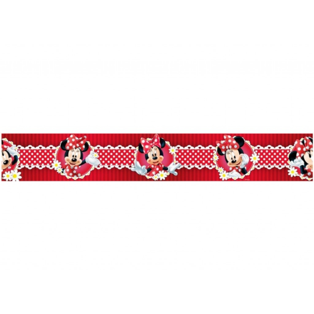 Bordüre Minnie Mouse Polka Dot rot-Mickey Mouse