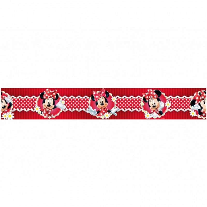Bordüre Minnie Mouse Polka Dot rot