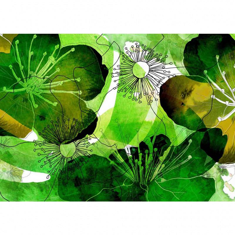 Vlies Fototapete Seerose Aquarell