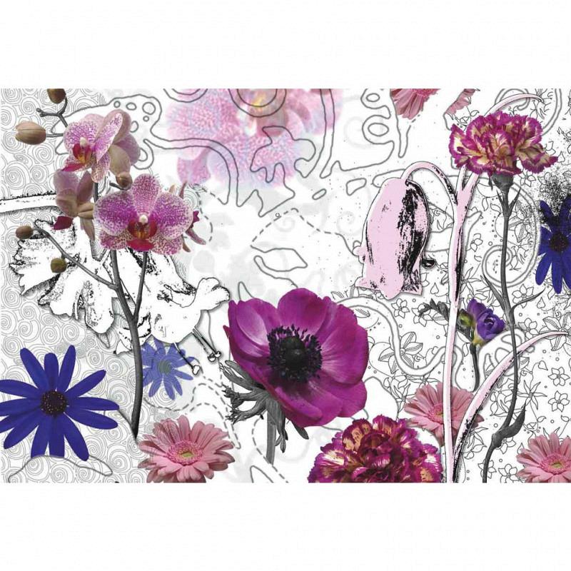 Fototapete Purpur Blüten