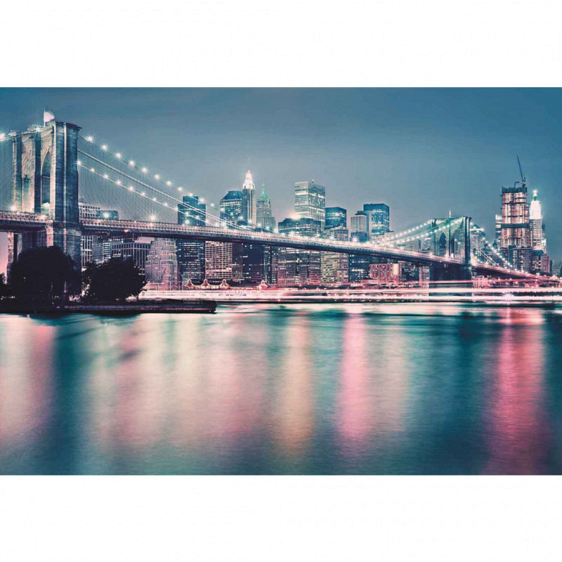 Fototapete Brooklyn Bridge City Lights