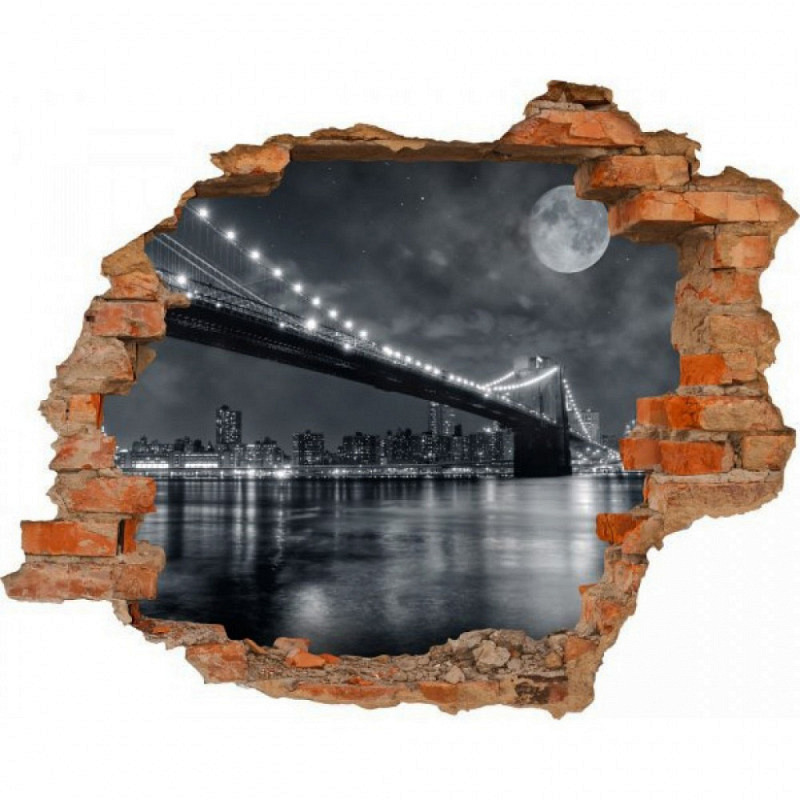 Wandsticker 3D-Optik New York Manhattan