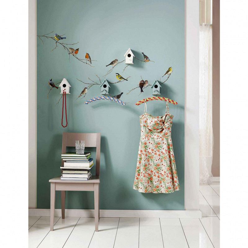 Wandsticker Singvögel