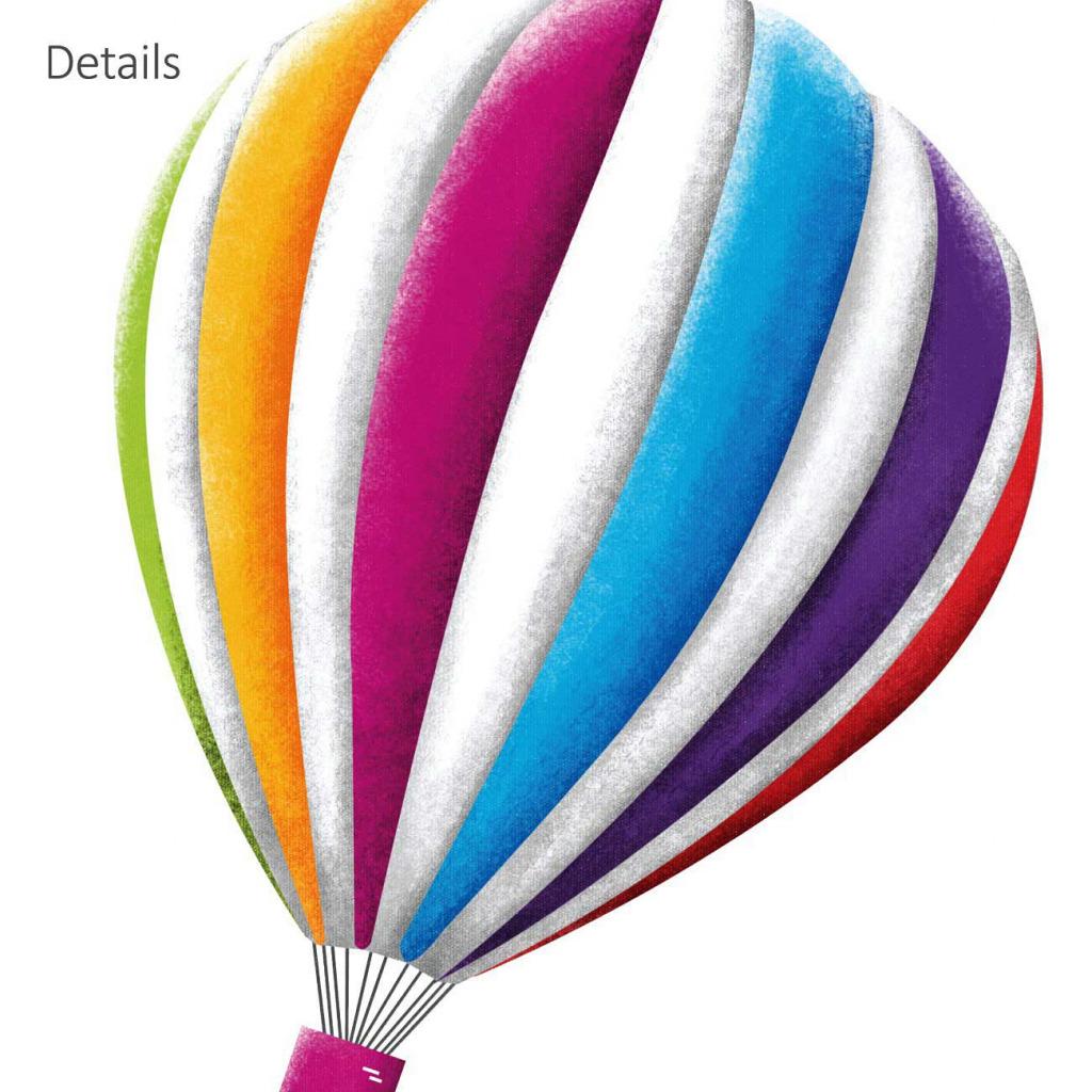 Wandsticker Heißluftballons Doppeldecker Flugzeuge Jugendzimmer